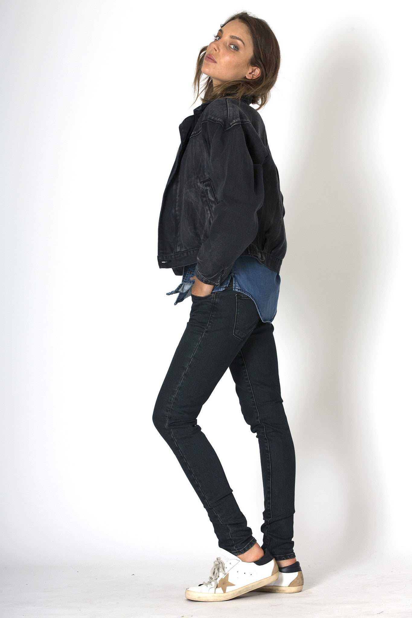 #3G14 Bomber Jacket Raven Black - denimcolab