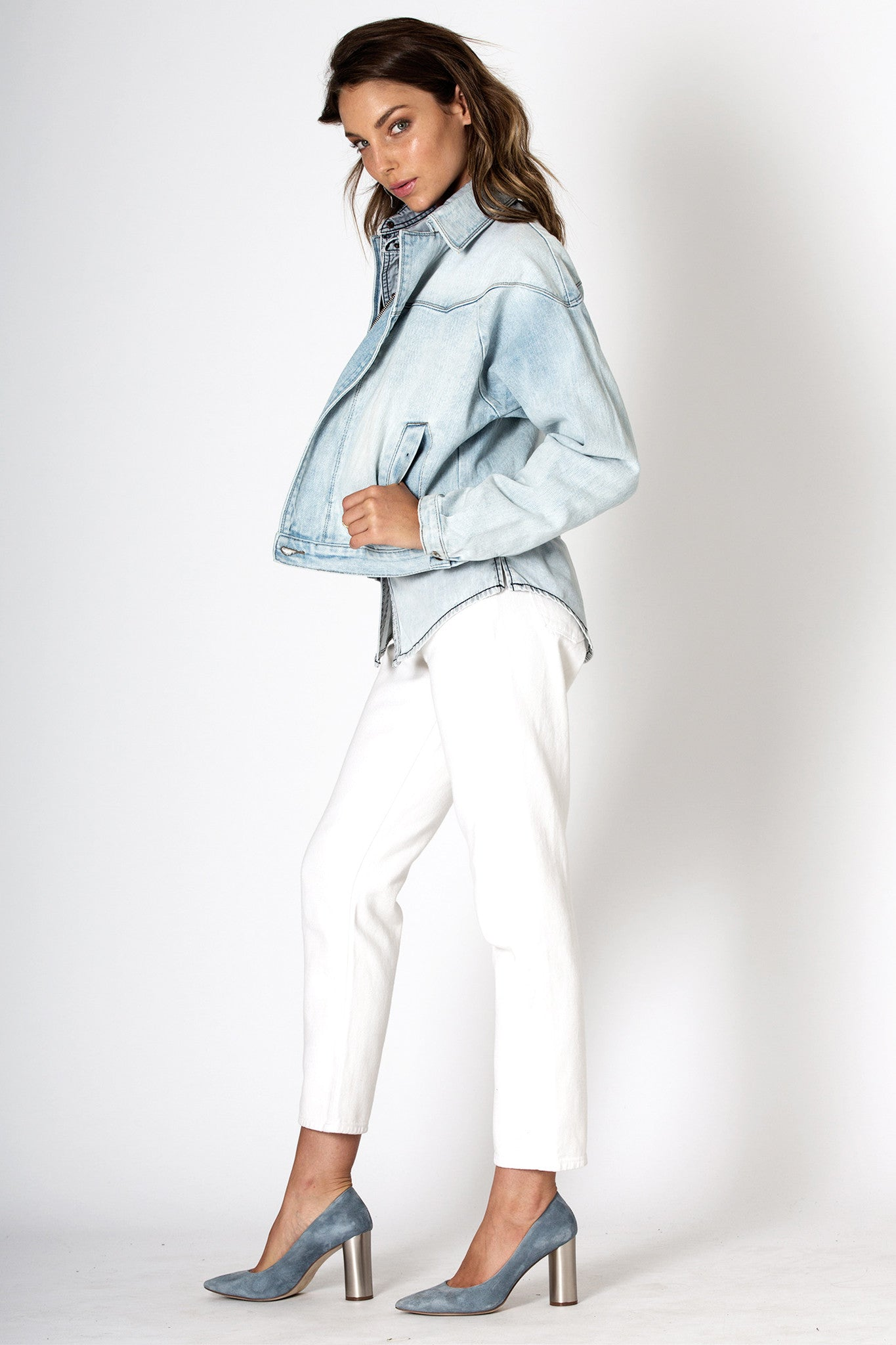 #3G14 Bomber Jacket Cloudy Blue - denimcolab