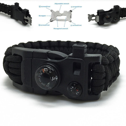 NEW 5 in 1 Survival Paracord Bracelet
