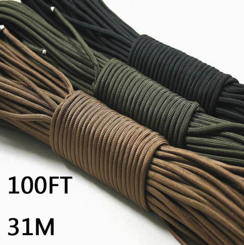 Paracord 550 Parachute Cord Lanyard Rope 100FT 31m