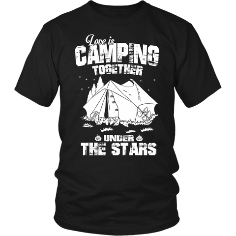 Unisex Shirt/Hoodie - Love is Camping Together Under The Stars