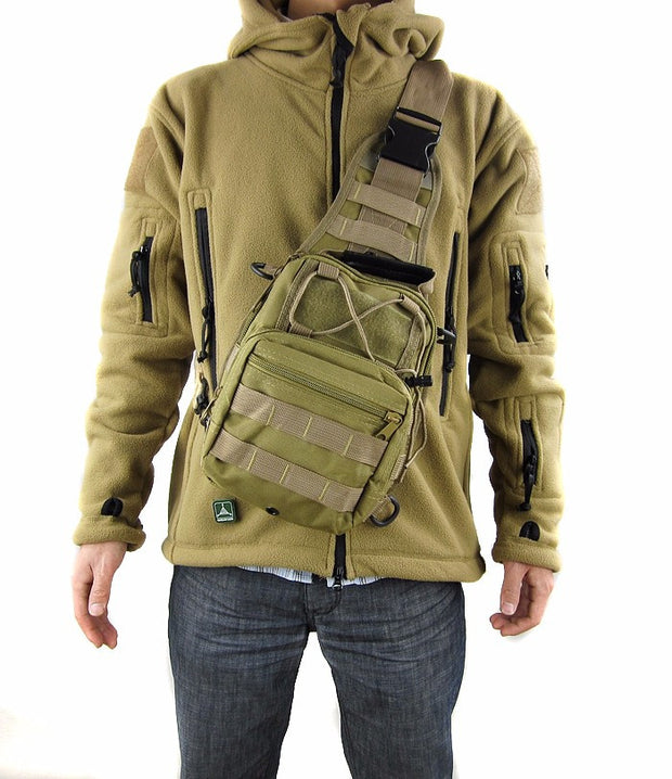 Military Cross Shoulder Messenger Bag - Base Trail