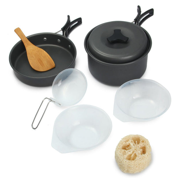 8 Piece Nonstick Camping Cooking Set - Base Trail