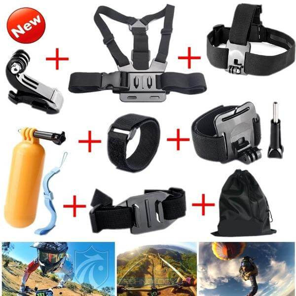 Gopro Accessories Mounts and Straps Set - Base Trail