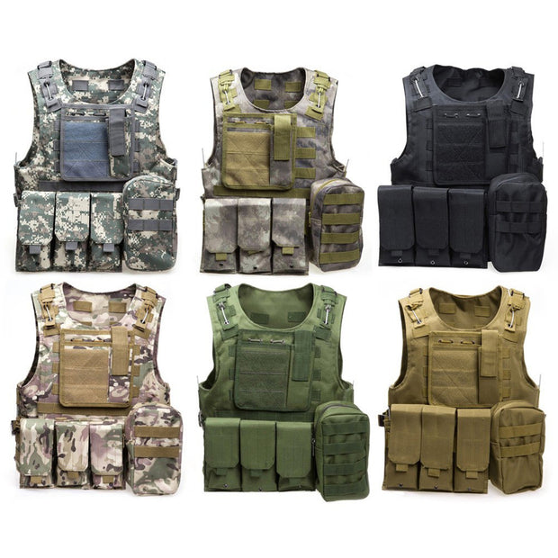 Military Tactical Outdoor Vest - Base Trail