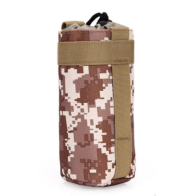 Portable Tactical Army Molle Camo Water Bottle - Base Trail