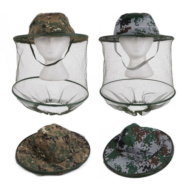 Camouflage Anti-Mosquito Mesh Hat - Base Trail