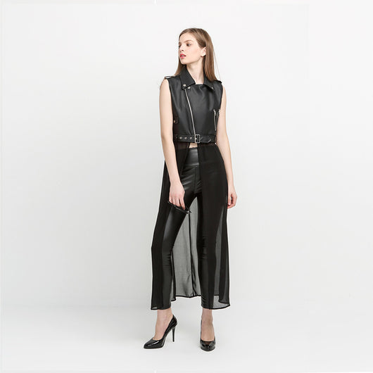 Sleeveless Long Coat Jacket