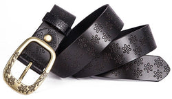 Embossed Ring Buckle Belt (4 Colors)