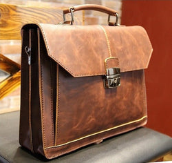 Leather Satchel In Tan