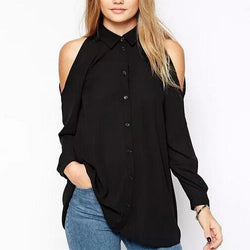 Shoulderless Button Up Shirt
