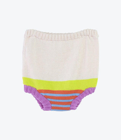 Peach Multi Stripe Nappy Cover