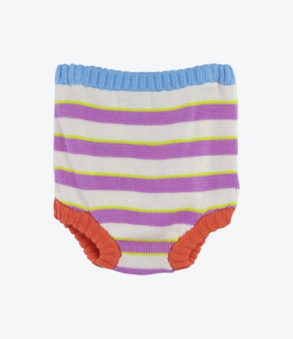 Purple Stripe Nappy Cover
