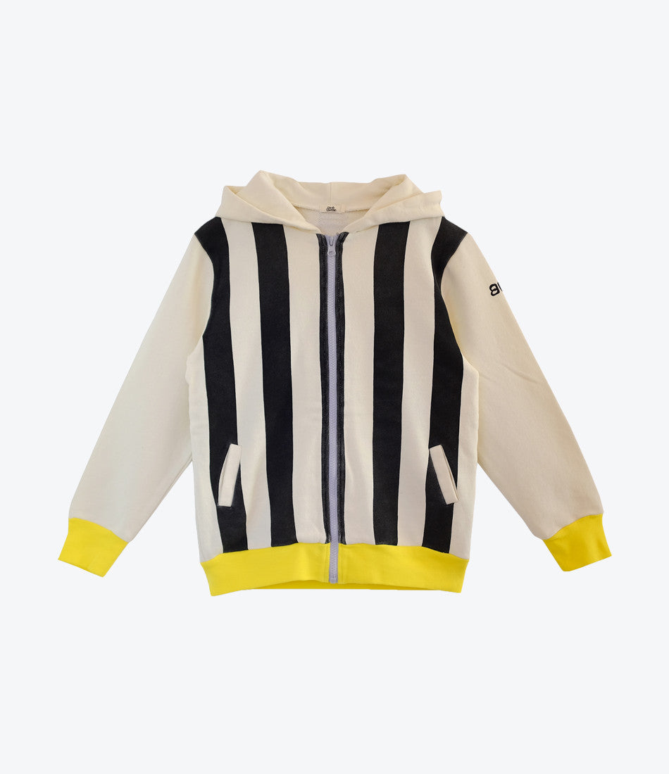 Bandy Buttons Bee Hoodie from the Animal Instinct collection is super cool, unisex and a wardrobe staple. For girls, boys. Find yours at Made Mini Store, Auckland NZ