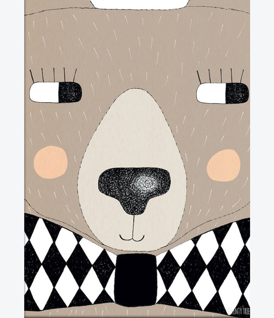 Seventy Tree big bear print, kids rooms, cool prints, fun, cute, cool, unisex. Shop now Made Mini