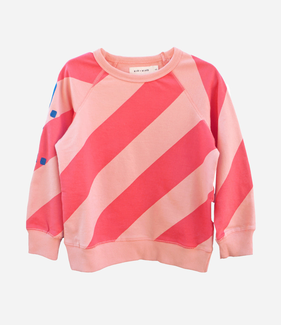 Candy Stripe Sweatshirt by Kid + Kind. US brand available in Auckland NZ, online childrens wear store Made Mini.