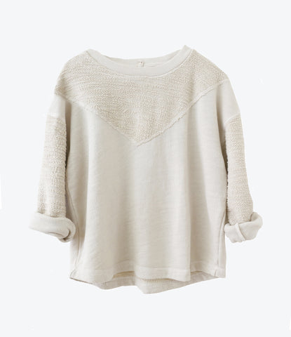 Nico nico clothing fraser V neck sweater for kids, unisex basic, organic cotton