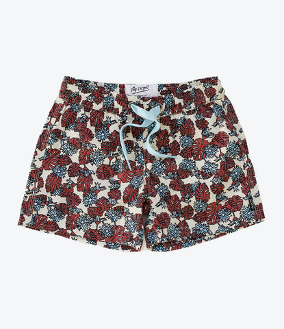 Hippiness Cotton Short by Pop Factory Shop. NZ brand available at our Online Baby Boutique, Wilechile. Boys Beach Short. Summer Wardrobe vibes. Where the cool kids shop