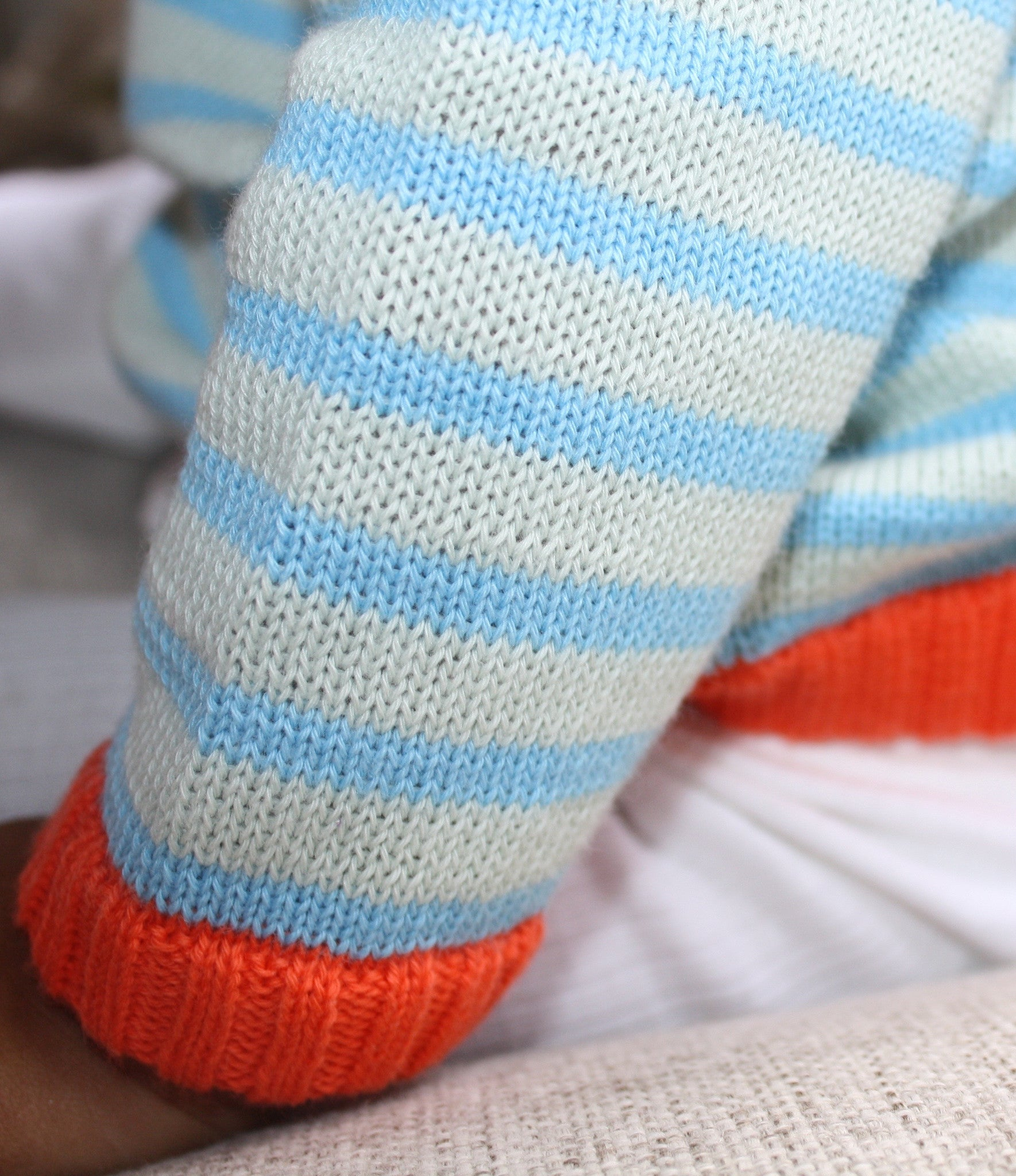 Blue Multi Striped Sweat