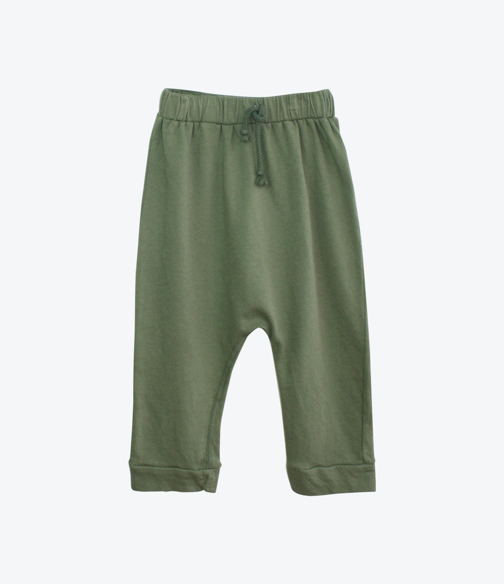 Nico Nico Aerial Harem Pant in Palm, found at Made Mini for Kids and babies. Organic, environmentally sustainable clothing for kids. Super comfy and cool, designer gears. F