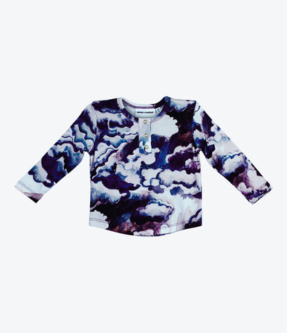 Mini Rodini cloud top purple, unisex, most beautiful childrens clothes, organic, environmentally friendly, shop now, Made Mini, auckland, nz