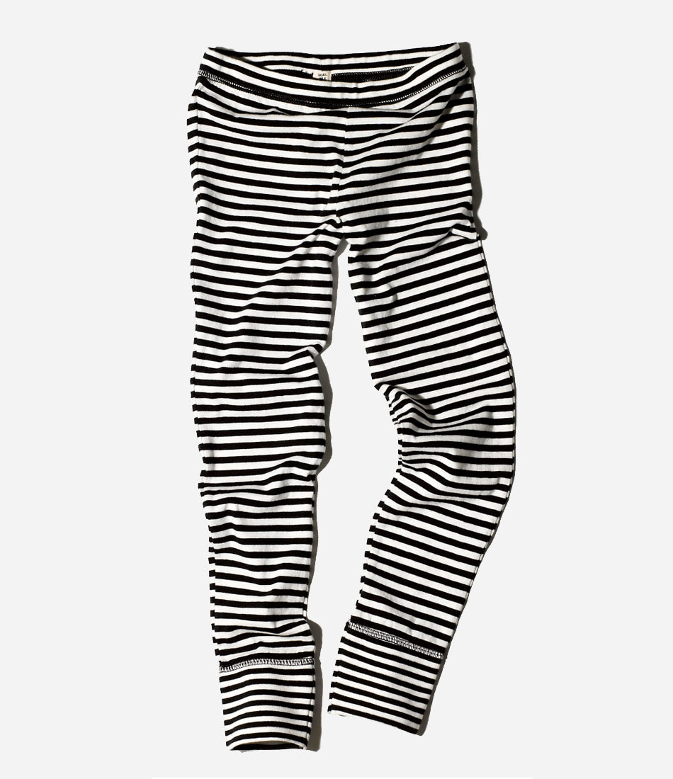 Thermal Stripe Pants. Everyday wear or sleepwear. Childrens organic clothing. Environmentally friendly, fair trade. Hello goodness. Shop now Made Mini Store, Auckland, New Zealand. Online childrens wear store, designer clothing NZ