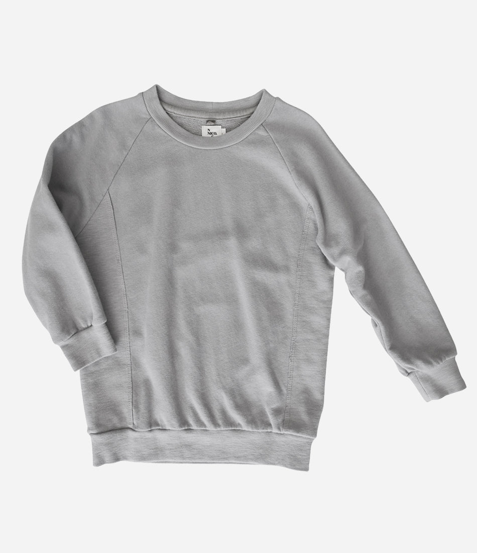 Nico Nico perfect pullover in Taupe. For girls and Boys, quality basics you will love. Luxe gifts for kids and children. Find yours at Made Mini, online store for kids in Auckland