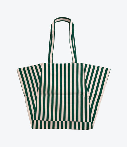 Hugo Loves Tiki Striped Tote Bag, kids and adults. Organic accessories. Shop Now Mademini store, NZ
