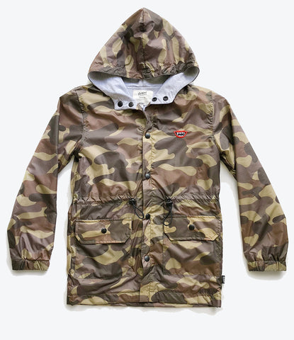 Pop Factory Shop Army Parker for the boys. Wind and rain jacket. Shop for your kids winter wardrobe here.