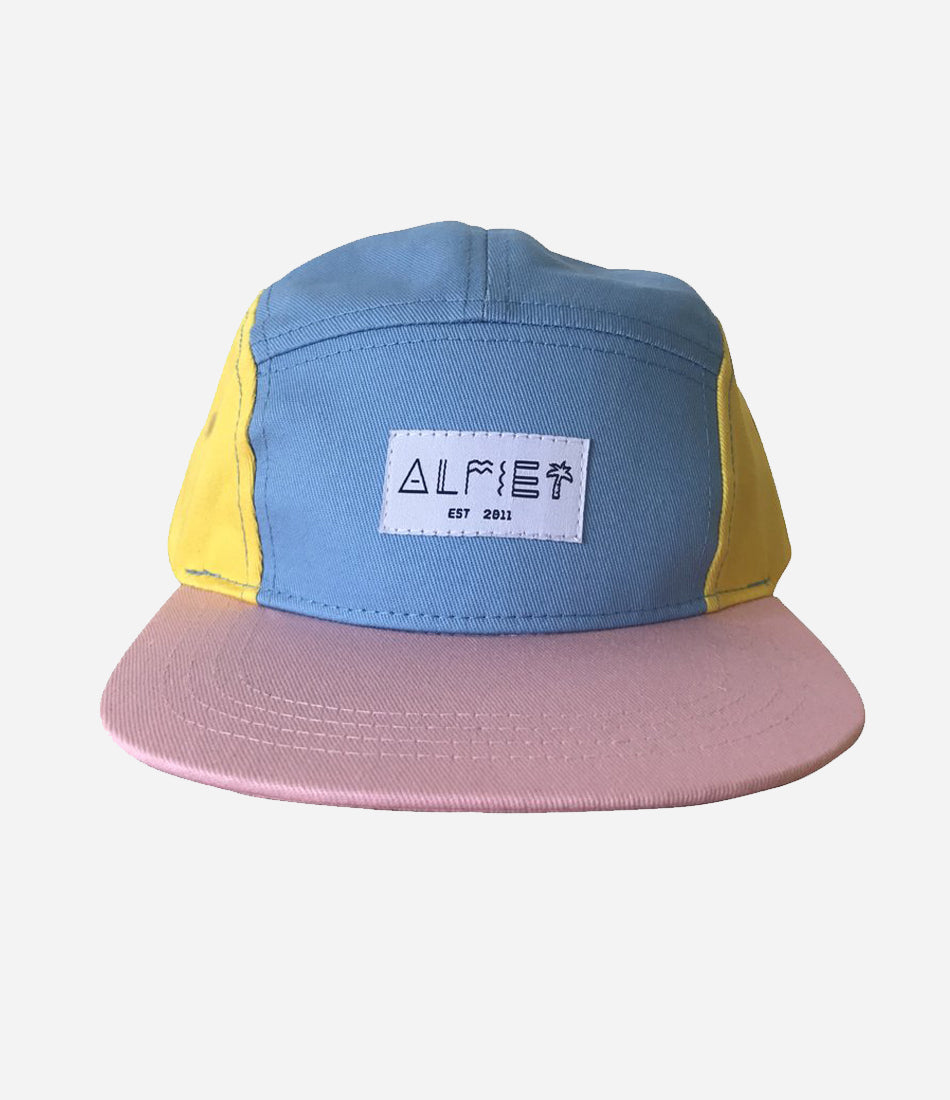 Miss block party 5 panel cap for girls. Summer hat, for the kids and babies. Shop now at Made Mini Store, Auckland NZ