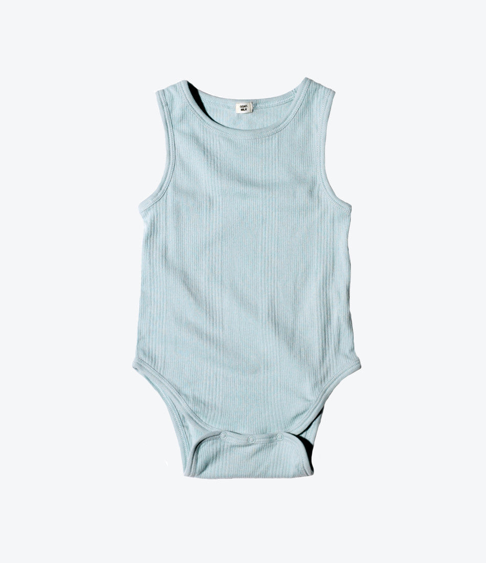 Goat Milk NYC cloud rib onesie, comfortable, organic, prewashed, cotton, baby shower gift, unisex. Available at Wilechile Baby Boutique