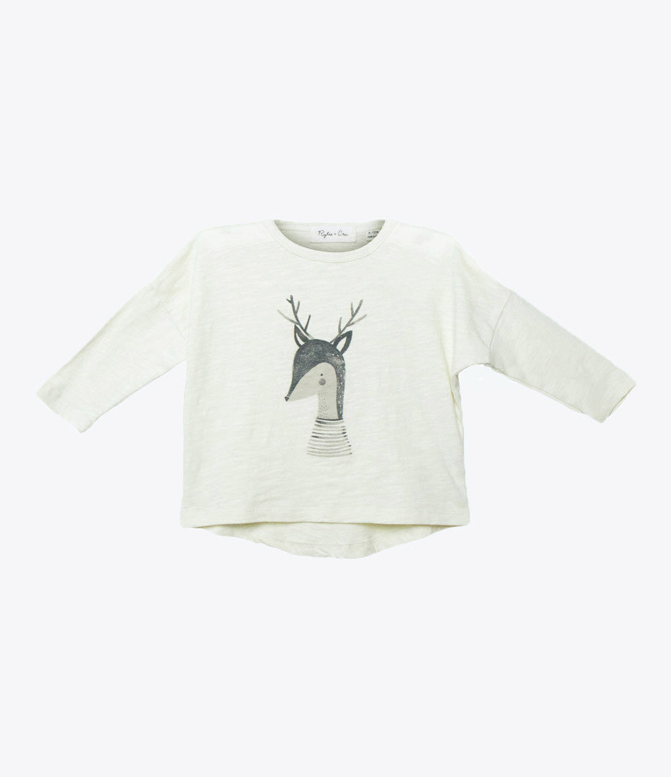 Rylee and Cru deer long sleeve top, girls, on sale, Made Mini, auckland nz