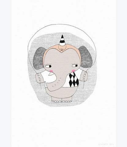 Seventy Tree circus ellie print, kids room, nursery, art print, bedroom decor, unisex, girls, boys, auckland . Shop now at Made Mini.