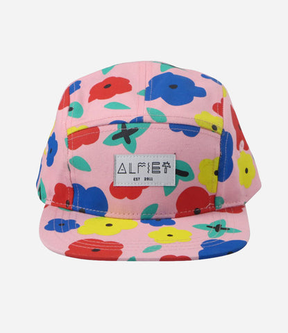 Floral 5 panel cap by Alfie est 2011. Girls summer hat, find yours in store at Made Mini. Auckland NZ online store for babies and children.