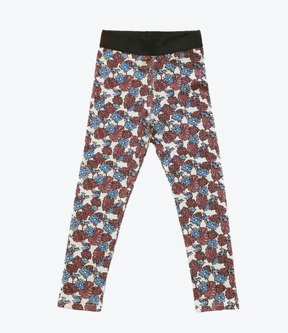 Hippiness Legging by NZ brand Pop Factory Shop, For the girls, floral print, summer wardrobes. Get amongst, at Made Mini Store, Auckland New zealand