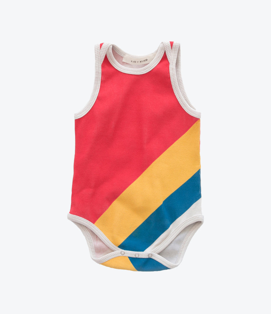 olympic onesie by kid and kind, unisex, organic onesie baby, stand out, shop now Made Mini Store, New Zealands designer baby boutique and childrens store