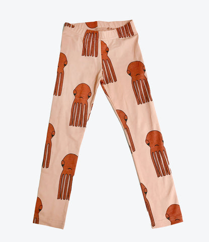 Hugo Loves Tiki octopus leggings, unisex organic baby and kids clothing. shop now made mini store, auckland, nz