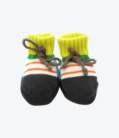 Baby degen hand knitted booties. New york to New Zealand. Special baby gift, cosy, soft, hand knitted baby goods. Shop now Made Mini Store, Auckland, NZ