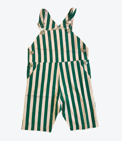 Hugo Loves Tiki Beverley Striped overalls, shop organic kids and baby clothing at MADEmini Store, Auckland, NZ