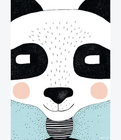 Seventy Tree big panda print, kids room, bedroom decor, interior, fun, creative art for kids. Find yours at Made Mini, Auckland New Zealand