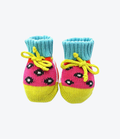 Baby Degen hand knitted booties for baby girls. Super special gift for new borns and new babies. Baby shower present. Shop now at Made Mini Store. Baby boutique and childrens clothing store. Auckland, New Zealand.