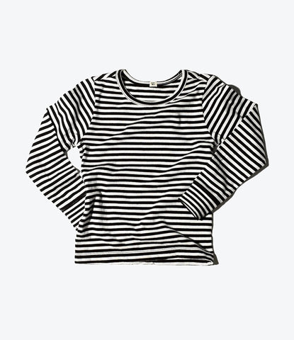 Goat Milk NYC stripe long sleeve top, organic, green, eco friendly, good for babies, available at Wilechile Boutique Childrens and babies clothing store Auckland, NZ