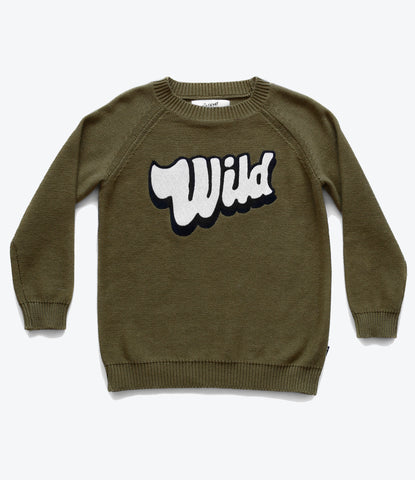 Pop Factory Shop knit jumper for boys and girls. Shop designer kids clothing at Mademini Store, Auckland, NZ