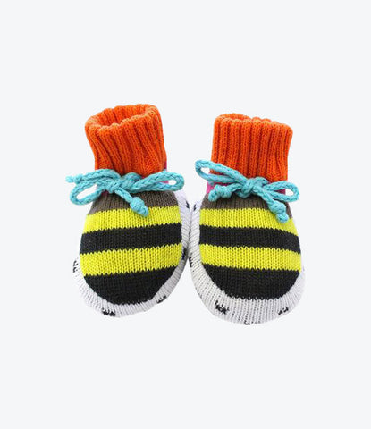 Yellow and Black Stripe Booties