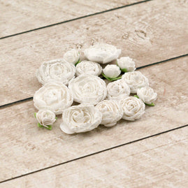English Roses (15 pack) - 5 x 3.5cm, 5 x 2.5cm, 5 x 2cm roses