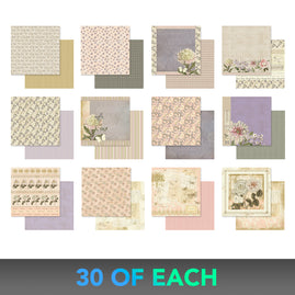 * Kit 1 - Butterfly Garden - 30 sheets of each 12 x 12 paper - 5% discount