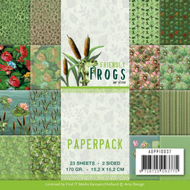 Paperpack - Amy Design - Friendly Frogs 6 x 6in - 23 2-sided patterned sheets - 16 designs