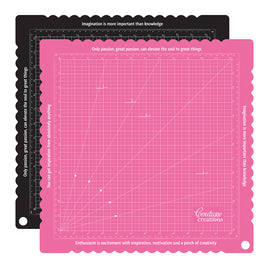 Cutting Mat - Self Healing - Pink & Black (15 x 15in)