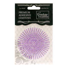 Gemstones - Adhesive - Amethyst (424pc - 2mm)