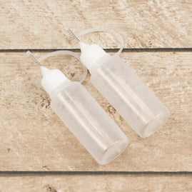 Applicator Bottles - 20ml with rustproof precision tip and cover (2pc)